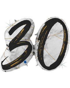 PALLONCINO MYLAR SUPERSHAPE 30TH MARBLE BLACK