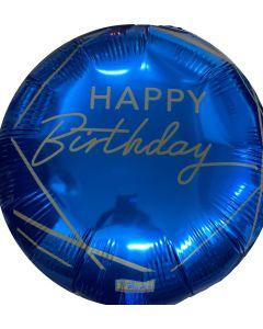 "PALLONCINO MYLAR 18"" HAPPY BIRTHDAY BLUE"
