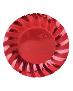 PIATTI WAVY RED METAL PZ.8
