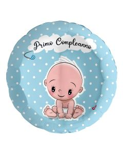 """PALLONCINO MYLAR 18"""" PRIMO COMPLEANNO BABY BOY"""