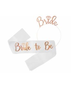 CORONCINA E FASCIA BRIDE TO BE