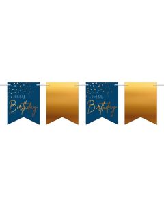 FESTONE BANDIERINE HAPPY BIRTHDAY BLU/ORO