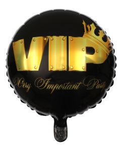 PALLONCINO MYLAR VIP PARTY BLACK & GOLD