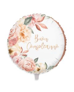 PALLONCINO MYLAR BUON COMPLEANNO ROSE GOLD