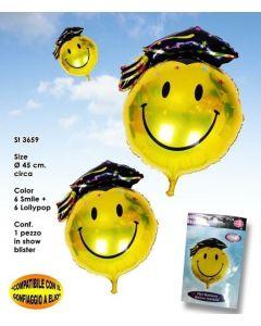 PALLONCINO MYLAR SMILE LAUREATO