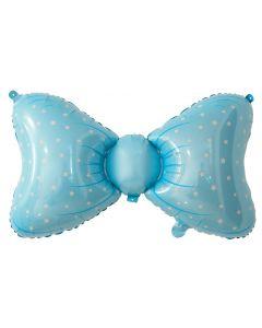 PALLONCINO MYLAR SUPERSHAPE BABY BLUE BOW