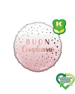 PALLONCINO MYLAR BUON COMPLEANNO LIGHT PINK