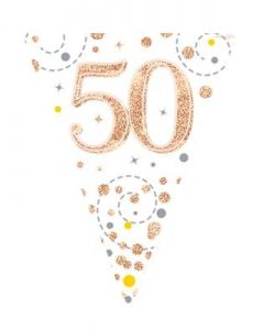 FESTONE BANDIERINE 50TH ROSE GOLD
