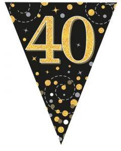 FESTONE BANDIERINE 40TH BLACK & GOLD