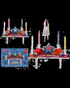 CAKE TOPPER MUSCALE CON LED E CANDELINE