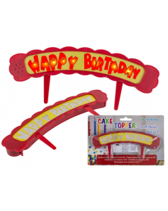 CAKE TOPPER HAPPY BIRTHDAY MUSICALE CON LED