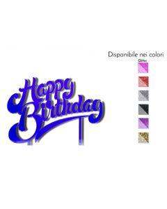 Cake Topper Happy Birthday Legno