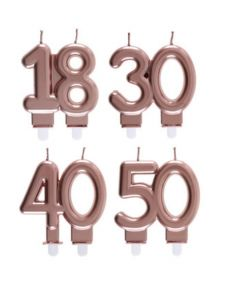 CANDELINE NUMERATE ROSA GOLD SATIN