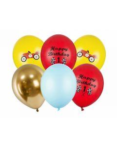 SET PALLONCINI HAPPY BIRTHDAY MIX PZ.6