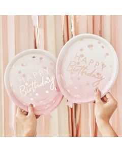 PIATTI HAPPY BIRTHDAY BALLOON ROSE GOLD PZ.8