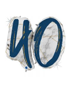 PALLONCINO MYLAR SUPERSHAPE 40TH MARBLE BLUE
