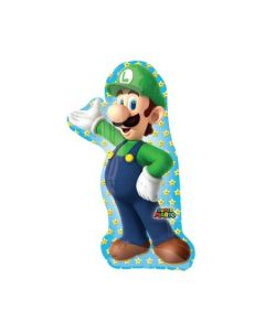 PALLONCINO MYLAR SUPERSHAPE SUPER MARIO (LUIGI)
