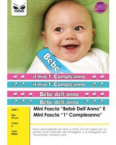 FASCIA IN TESSUTO BEBE' DELL'ANNO PZ.1