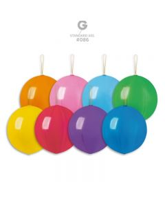 "PALLONCINI 18"" PUNCH BALL COLORI ASSORTITI PZ.100"