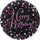 PIATTI HAPPY BIRTHDAY PINK SPARKLING PZ. 8