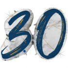 PALLONCINO MYLAR SUPERSHAPE 30TH MARBLE BLUE