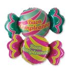 PALLONCINO MYLAR BUON COMPLEANNO CANDY