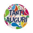 PIATTINO TANTI AUGURI BIG PARTY PZ. 10